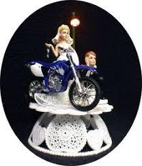 funny motorcycle wedding cake toppers1 motorcycle wedding cake