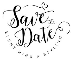 save the date the date event stylist
