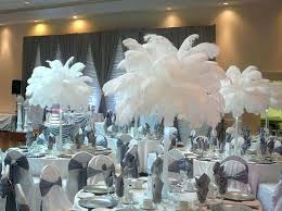 ostrich feather centerpieces ostrich feather and flower centerpieces ostrich feather