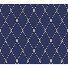 york wallcoverings ny4847 nautical living knot trellis wallpaper