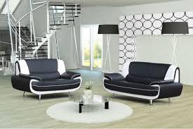 canape blanc noir canapé cuir noir et blanc parfait canapé design