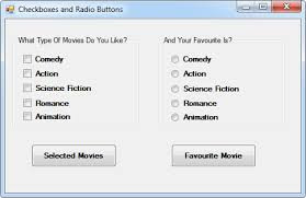 visual c net checkboxes and radio buttons