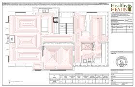 in floor heating basement sample set 3 design drawings and specifications for residential