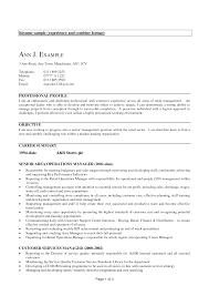 experience resume exles resume sle experience venturecapitalupdate