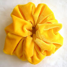 hair scrunchy solid yellow velvet hair scrunchy s boutique s