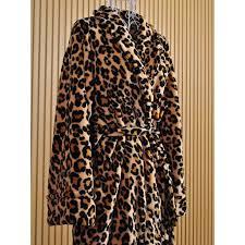 robe de chambre léopard déesse k polaire femme lepeignoir fr