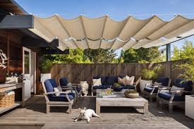 Contemporary Retractable Awnings Retractable Awnings Review With Bushes Patio Mediterranean And