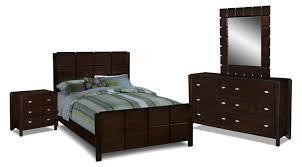 American Signature Furniture Bedroom Sets by Mosaic 6 Piece Queen Bedroom Set Dark Brown American Signature