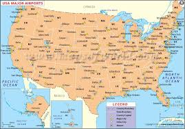 map usa us airports map airports in usa