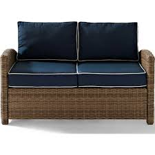 White Wicker Glider Loveseat by Furniture Wicker Loveseat With Tray For Cozy Patio Furniture Ideas