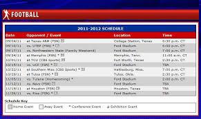 mustang football schedule smu announces 2011 football schedule smu