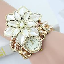 pearl bracelet watches images Buy 2018 new arrival fashion flowers pearl jpg