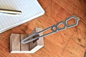 unique letter opener tiletto the titanium letter opener prototype the clicky post