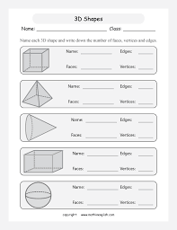 name the 3d shapes and tell how many faces edges and vertices it