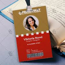 office id card template best psd freebies