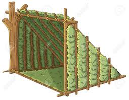 wooden tent wooden shelter tent royalty free cliparts vectors and stock