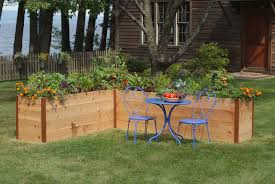 Raised Garden Bed With Bench Seating Small Kitchen Storage Seating Bench Plan Ideas