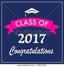 congratulations graduation banner class 2017 graduation banner vector illustration stock vector
