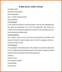 email cover letter format email resume cover letter sample sample