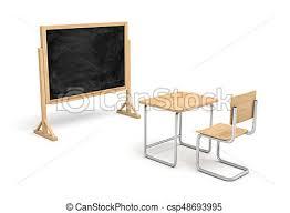tableau de bureau école bois vide rendre tableau bureau devant nouveau