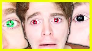 wearing crazy contact lenses youtube