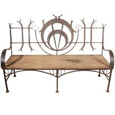 wrought iron garden bench for sale at 1stdibs