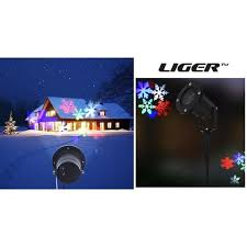 liger led moving snowflake lights show laser projector