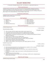 Resume Template For Nursing Assistant Template For Nursing Assistant