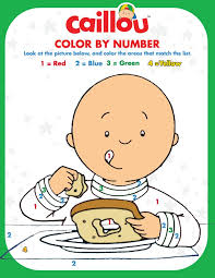Thanksgiving Color By Number 76 Best Caillou Coloring Fun Images On Pinterest Caillou
