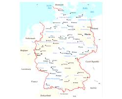 Maps Of Germany by Maps Of Germany Inside Political Map Germany In English