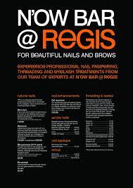 prices at regis hair salon professional nail pering at the n ow bars regis