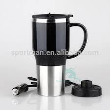 heated coffee mug 12v usb stainless steel travel heated thermos coffee mug cup with