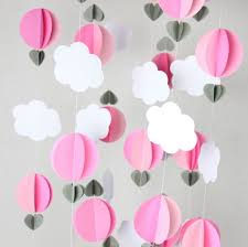White Nursery Decor 2pcs Air Balloon Garland Room Nursery Decor 5 Ft Per