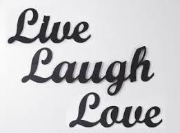 live laugh love live laugh love metal wall art words sign black accents cursive ebay
