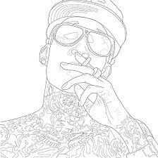 wiz khalifa contour drawing illustrator corel bamboo pad 4 u2026 flickr