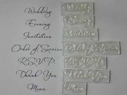 Stamps For Wedding Invitations Script Font Wedding Invitation Stamp Set