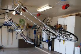 double motorized bike lift with single strong racks