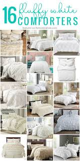 Comfortable Comforters Bedding Set Fluffy White Bedding Amazing Fluffy White Bedding