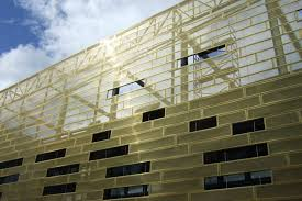 perforated gold metal panels perforated metal facade pinterest