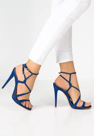 Images of Blue Heeled Sandals
