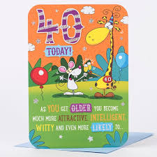 40th birthday card as you get old only 99p