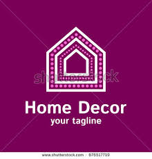 vector logo template decor company illustration stock vector