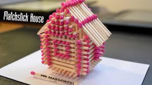 matchstick craft tutorials matchstick house circle cup stars