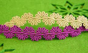 flower bracelet diy images Wavy flower lace bracelet tutorial jpg