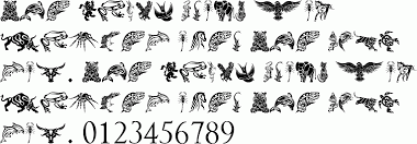 tribal animals designs free font