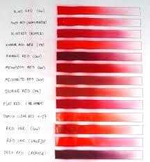 red paints comparison chart u2013 fantasygames com pl