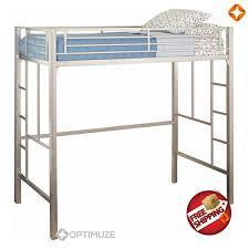 Bunk Bed Metal Frame Metal Frame Loft Bed Bedroomdiscounters Bunk Beds Metal