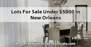 for sale under 5000 in new orleans