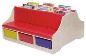 kids reading bench steffywood double sided kids reading book storage bench with kids