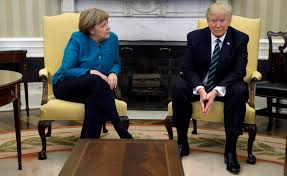 trump oval office pictures trump handed germany u0027s merkel 375 billion invoice for nato defense